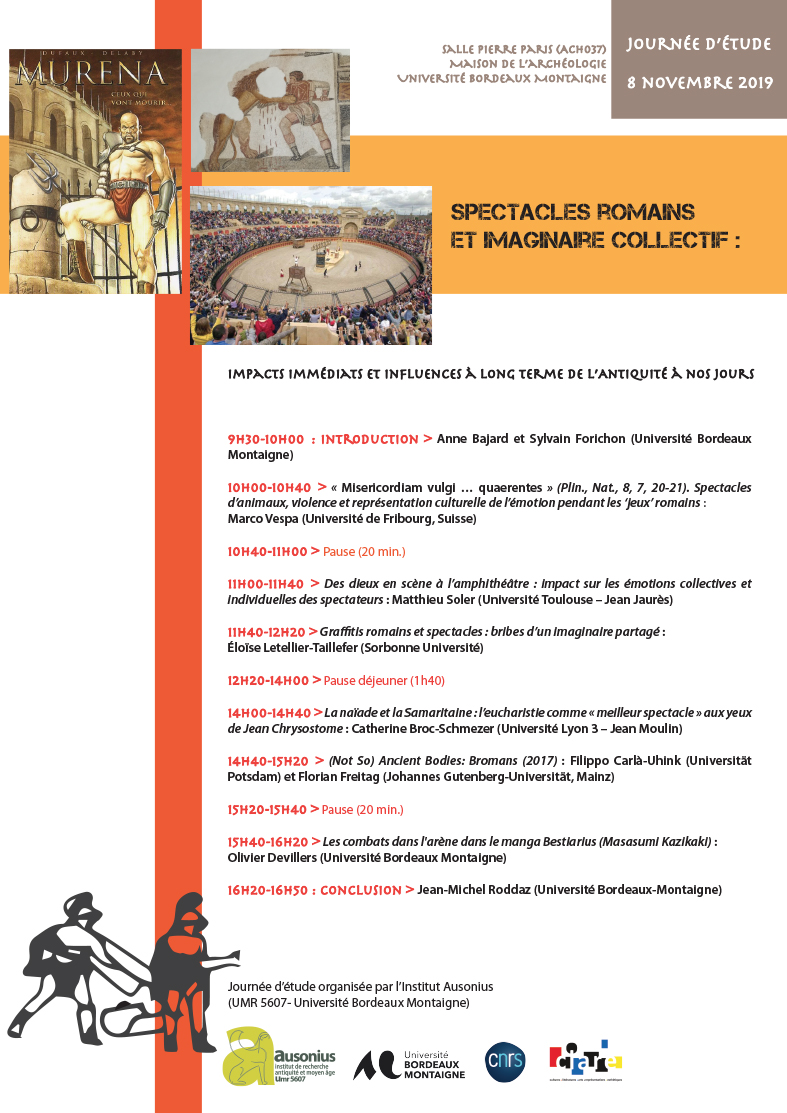 Affiche programme spectacles romains